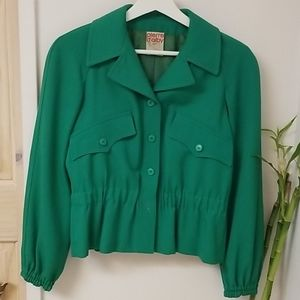 Pierre D'alby vintage green 100% wool jacket
